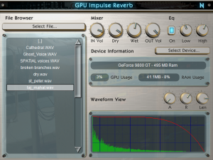 GPU Impulse Reverb VST - Screenshot